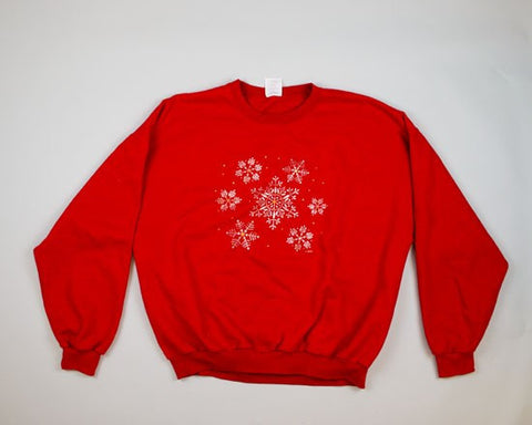 Sparkling Snowflakes-XX-Large Christmas Sweater+