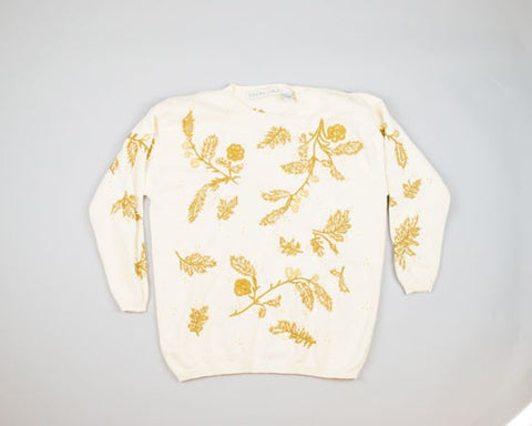 Gilded Foliage-Large Christmas Sweater