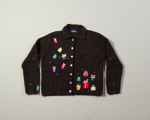 Presents in Space-Medium Christmas Sweater