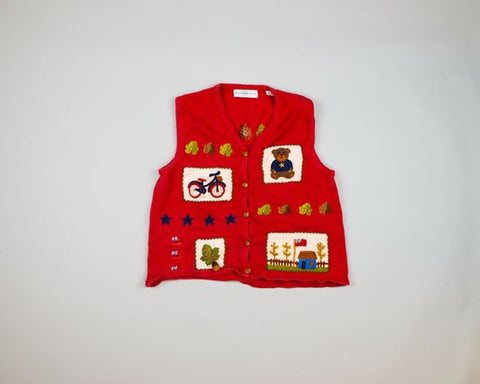 Fun Patriotic fall-Small Christmas Sweater