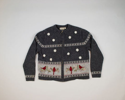 Cool Cardinals-Small Christmas Sweater
