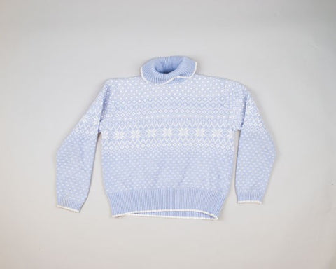 Powder Blue-Small Christmas Sweater