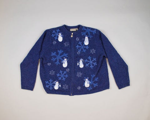 Giant Snowflakes-Medium Christmas Sweater