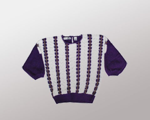 Purple n' Gold-Medium Christmas Sweater