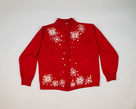 Opalescent Snowflakes-Large Christmas Sweater