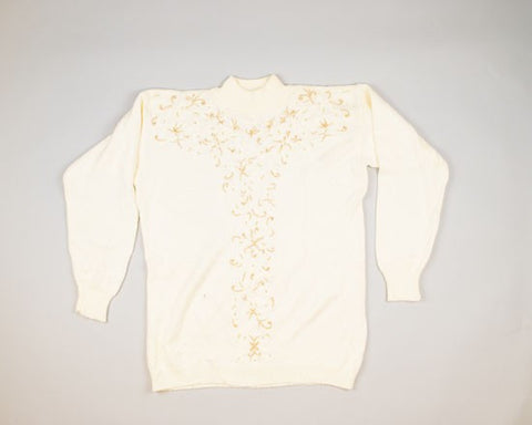 Golden Swirls-Large Christmas Sweater