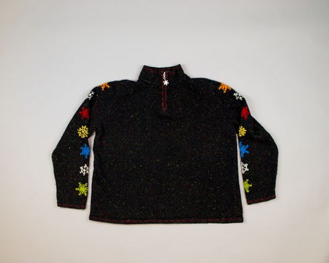 Rainbow Snowflakes-Medium Christmas Sweater