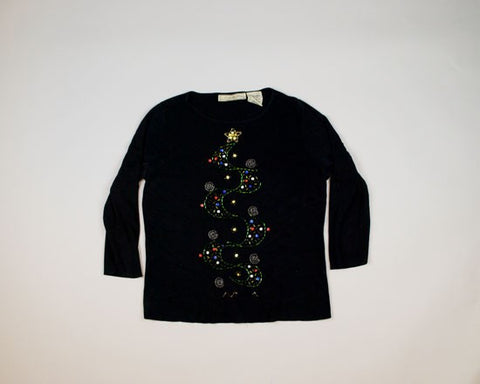 Avant Garde Tree-Small Christmas Sweater