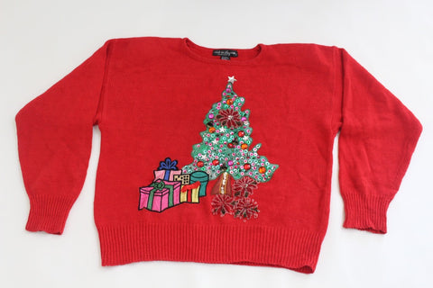 Decorated Christmas tree,  Large,  Christmas sweater