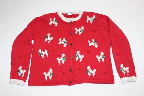 Oddles of Poodles, Large, Christmas sweater