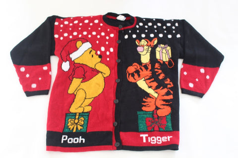 Winnie the Pooh and Tigger too, large, Christmas sweater