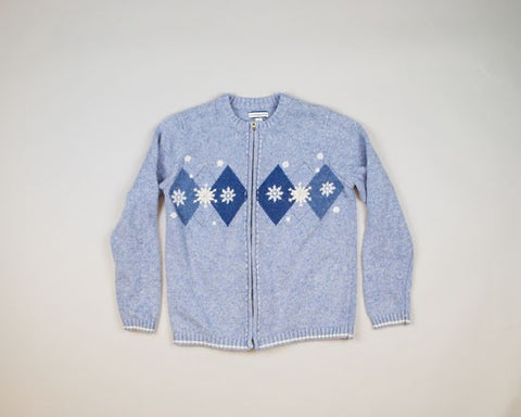 Powder Blue Christmas-Small Christmas Sweater