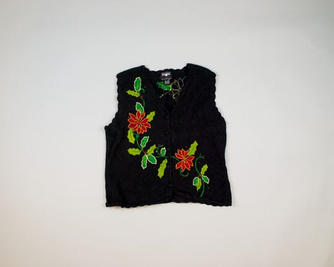 More Poinsettias-Small Christmas Sweater