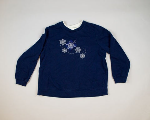 Snowflakes-Large Christmas Sweater