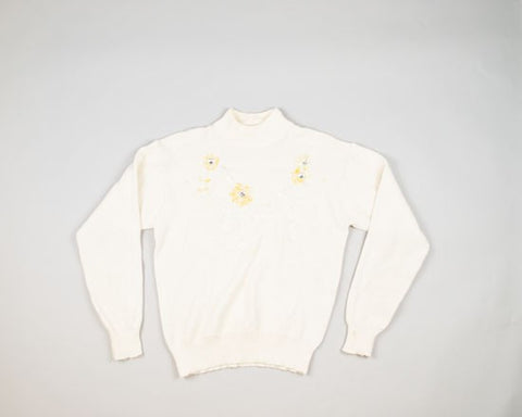 Crystalline Flowers-Small Christmas Sweater