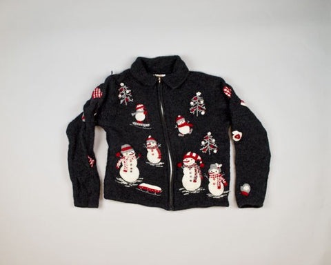 So Many Snowmen-Small Christmas Sweater