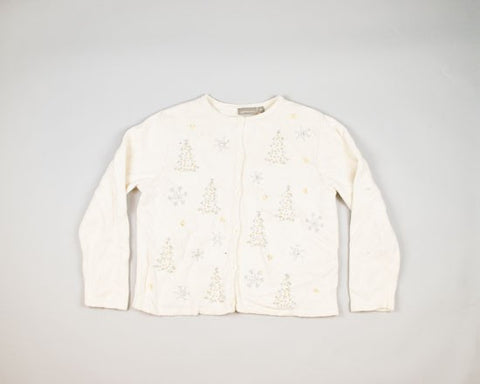 Sparkling Trees And Snowflakes-Medium Christmas Sweater