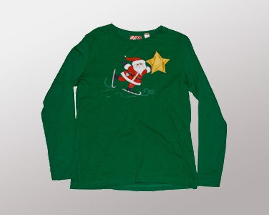 Santa Star (Long Sleeve T-Shirt)