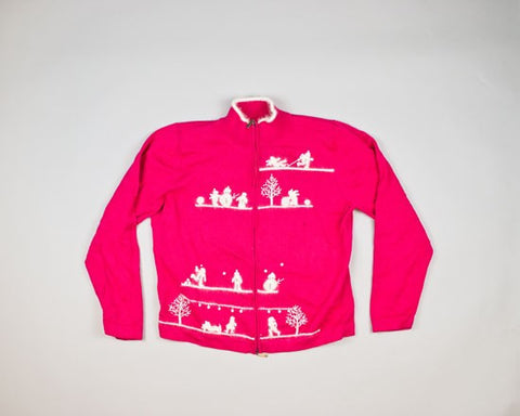 White Winter Scenes-Small Christmas Sweater