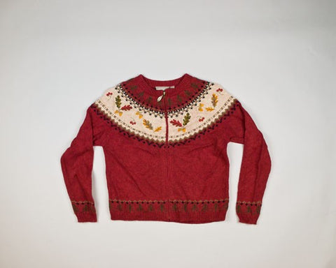 Holiday Leaves-Small Christmas Sweater