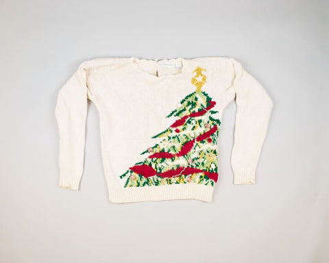 Rosy Tree-Small Christmas Sweater