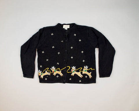 Reindeer Running-Small Christmas Sweater
