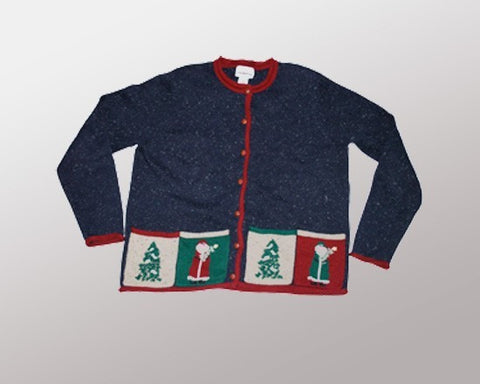 Santas & Christmas Trees-Medium Christmas Sweater