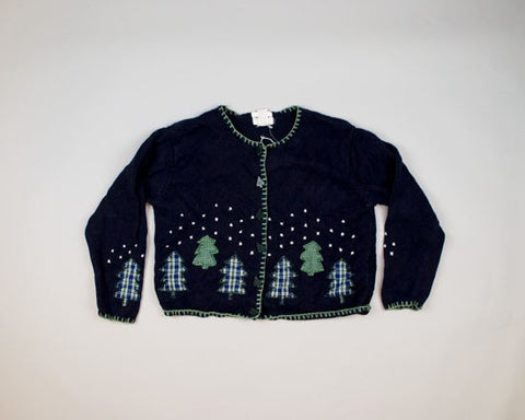 Trees At Night-Small Christmas Sweater