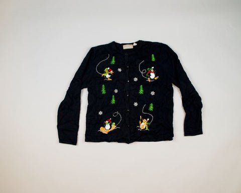 Penguins Going Wild-Small Christmas Sweater