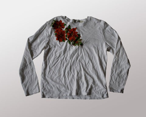 Simply Poinsetta-Medium Christmas Sweater