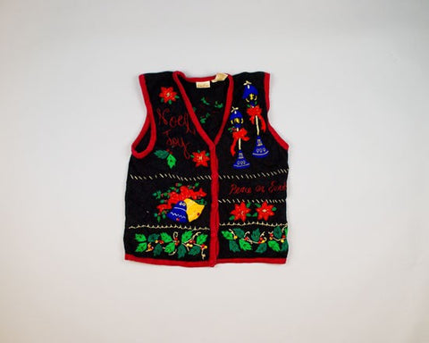 Noel, Joy, Peace On Earth-Small Christmas Sweater