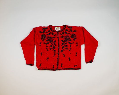Black On Red-X-Small Christmas Sweater