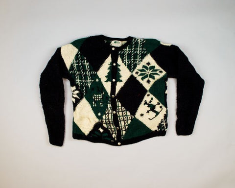 Green And White Christmas-Small Christmas Sweater