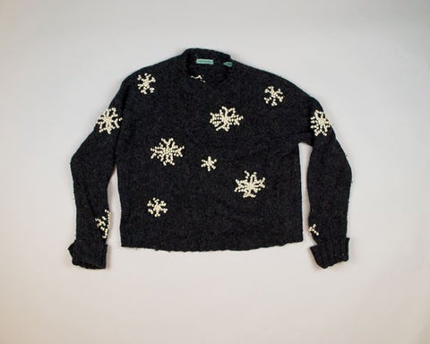 Just Some Snowflakes-Medium Christmas Sweater