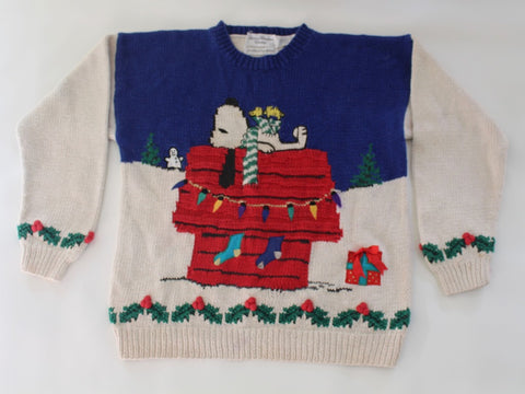 Snoopy is ready for Christmas!  Small,  Christmas sweater