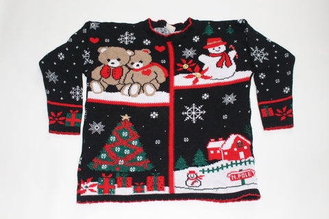 Snowy Christmas, Large, Christmas sweater