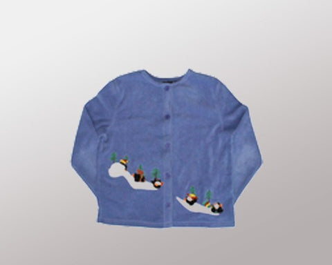 Sliding Down Penguins-Medium Christmas Sweater