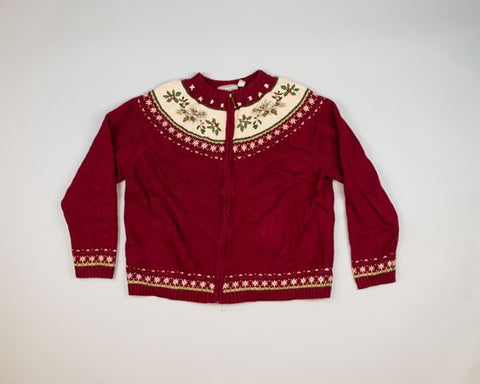 Holly Circle-Medium Christmas Sweater