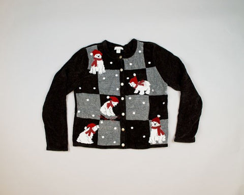 Festive Polar Bears-Small Christmas Sweater