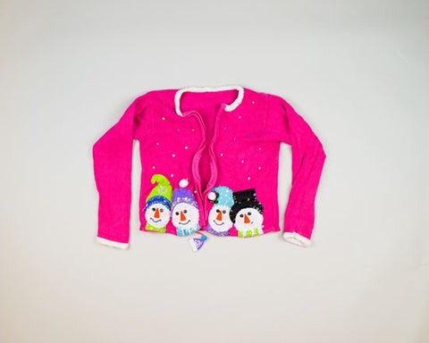 Snowman Heads-X-Small Christmas Sweater