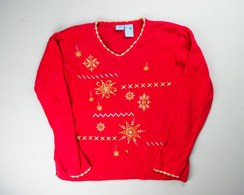 Stars And Snowflakes-Medium Christmas Sweater