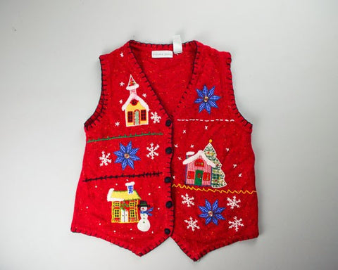 Winter Town-Small Christmas Sweater