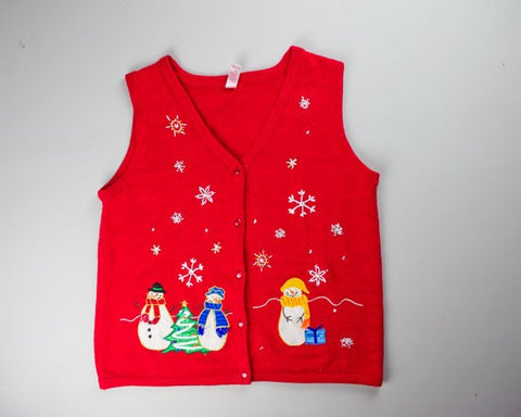 Simple Snow-Small Christmas Sweater