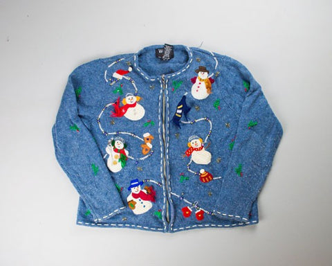 Snowmen Parade-Small Christmas Sweater
