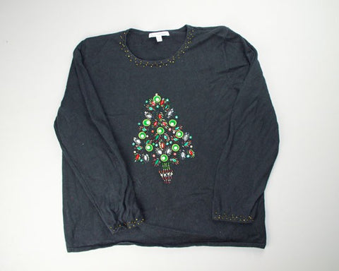 Beaded Tree-Small Christmas Sweater