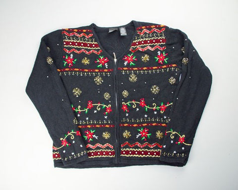 Floral Flash-Small Christmas Sweater