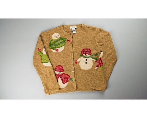Snowman Party-Small Christmas Sweater