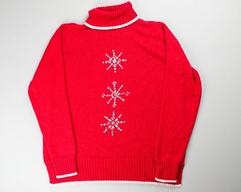 Simple Snowflakes-Small Christmas Sweater