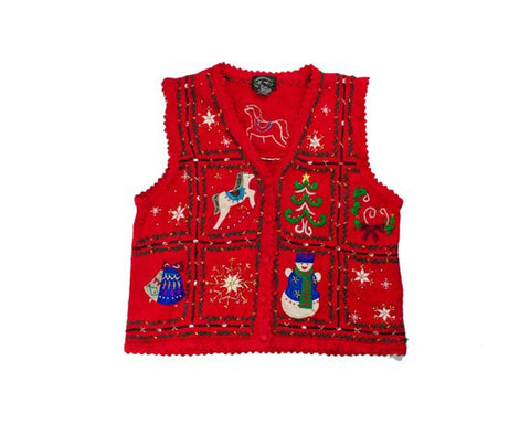 Horse And Bells-Small Christmas Sweater