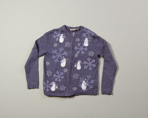 Snowmen and Snowflakes-Small Christmas Sweater
